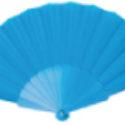 Abanico de Plástico Tela Azul