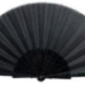Abanico de Plástico Tela Negra