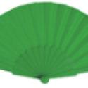 Abanico de Plástico Tela Verde