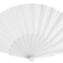 Abanico de Plástico Tela Blanca