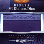 BIBLIA MI DIA CON DIOS RVR60 PIEL ITALIANA -MORADO