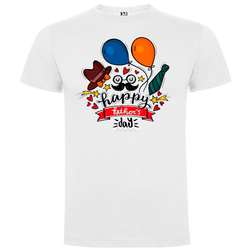 Camiseta-Blanca-Happy-Father´s-Day-Party.