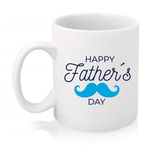 Taza Happy Father's Day Bigote azul