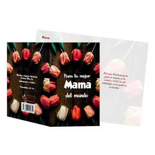 Tarjeta en 3D - ¡Para La Mejor Mamá Del Mundo!