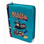 Biblia mi gran viaje Rvr 1960 color Turquesa