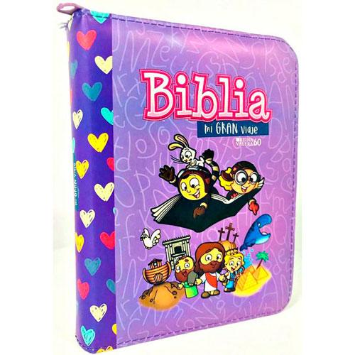 Biblia mi gran viaje morado