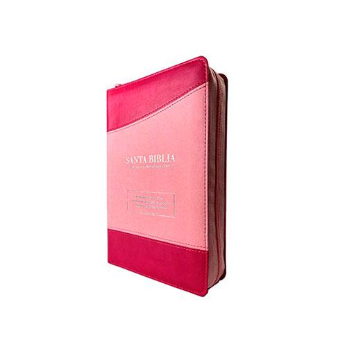 Biblia RVR60 Letra Gigante tamaño manual cierre indice rosa/fucsia