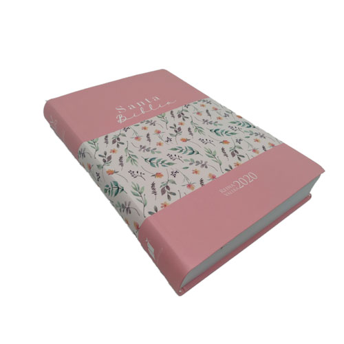 Biblia RVR2020 flexible rosa